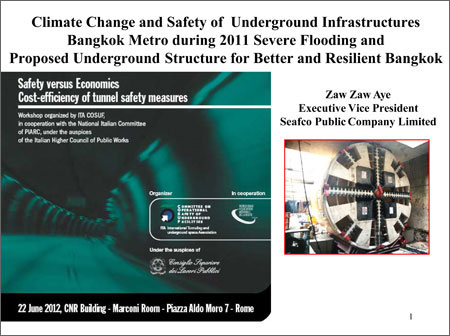 Climate Change and Safety of Underground Infrastructures