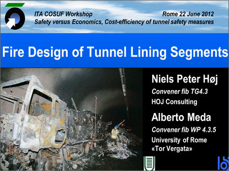 Fire Design of Tunnel Lining Segments