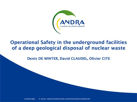 Operational Safety - nuclear waste facility