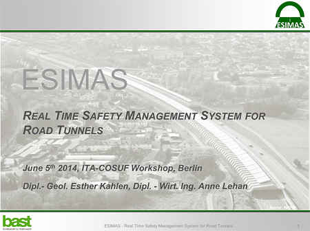 Real time safety mangement system for road tunnels