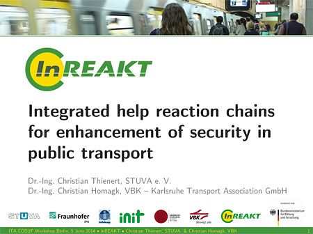 Integrated help reaction chains for enhancement of security in public transport